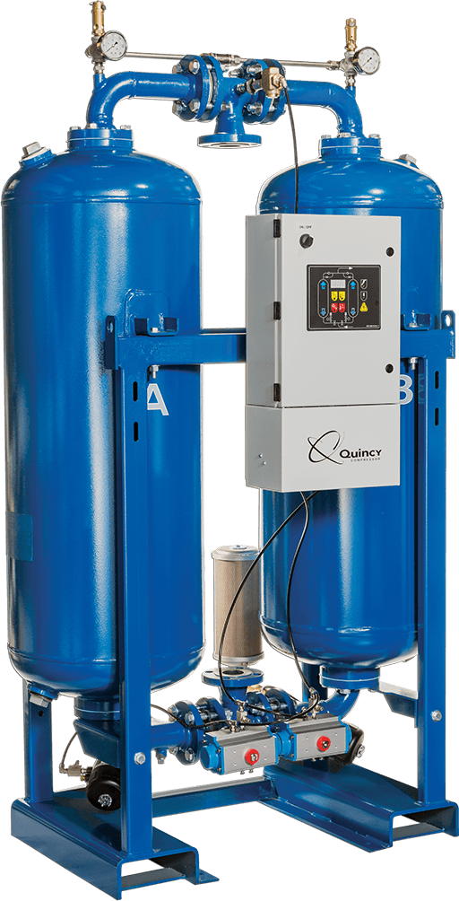 Desiccant Air Dryer Systems Associated Compressor